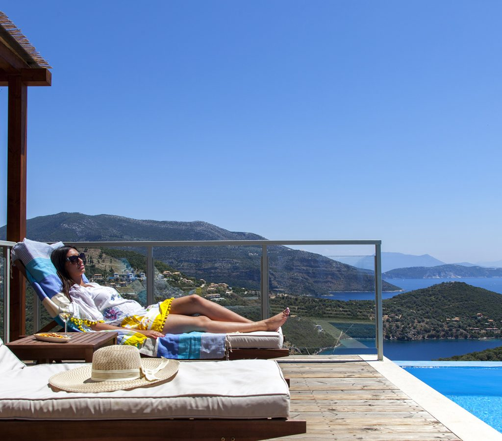 villa-alfresco-sivota-lefkada-girl-pool-sea-view-feature-photo