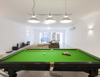 Billiard table lower level