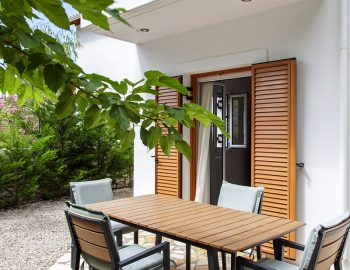 Another outdoor dining area