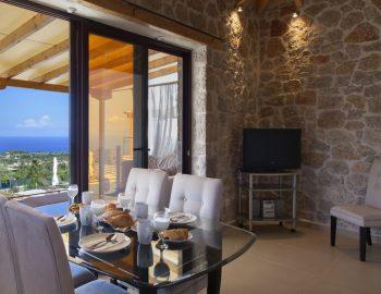 Kitchen with a big balcony