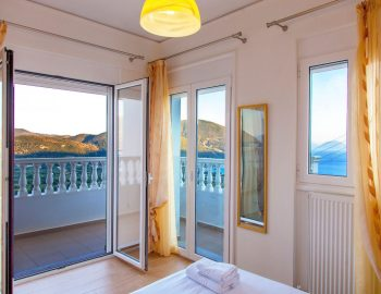 Bedroom 2: Balcony with amazing panoramic view of Vasiliki Bay