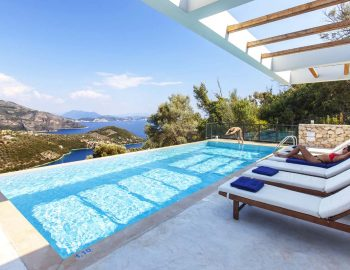 Infinity swimming pool with panoramic view